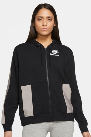 Nike Heritage Fleece Zip Through Hoodie