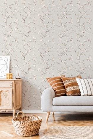 Fresco Apple Blossom Wallpaper by Art For The Home