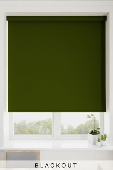 Haig Fern Green Made To Measure Blackout Roller Blind