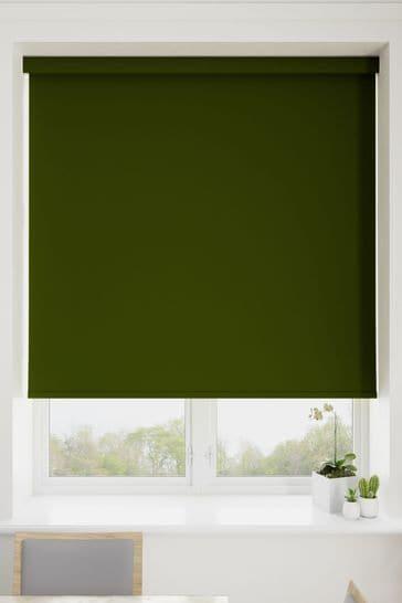 Haig Fern Green Made To Measure Blackout Roller Blind