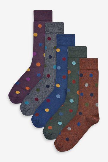 Rich Grindle Spot Socks 5 Pack