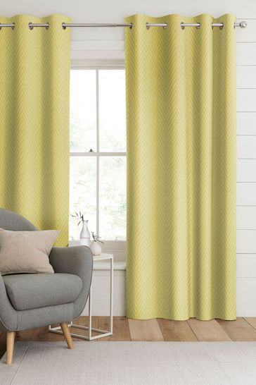 Aria Zest Yellow Made To Measure Curtains