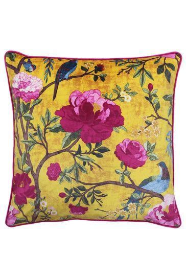 Riva Home Gold Chinoiserie Cushion
