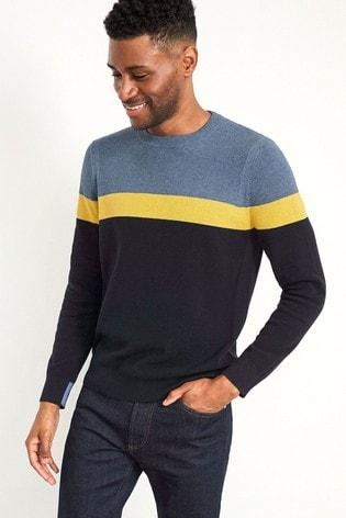 White Stuff Cane Stripe Crew Sweater