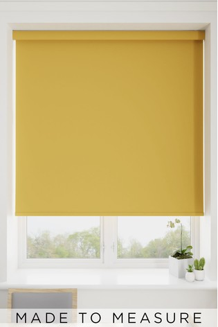 Haig Sand Yellow Made To Measure Blackout Roller Blind