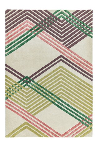 Matrix Lines Wool Rich Rug by Asiatic Rugs