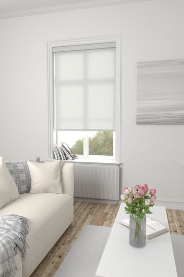 Asher Frost Grey Made To Measure Light Filtering Roller Blind