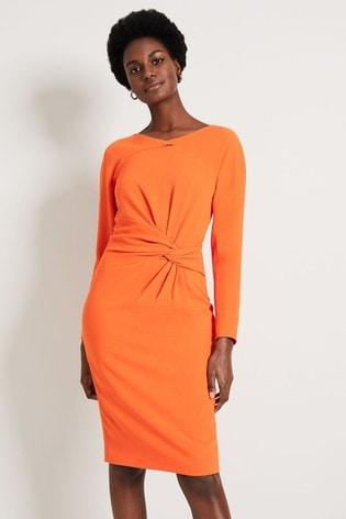 Damsel In A Dress Orange Valo Batwing Dress