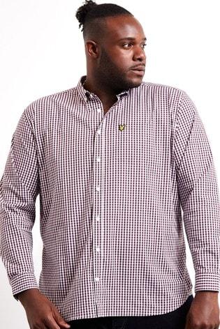 Lyle & Scott Plus Slim Fit Gingham Shirt