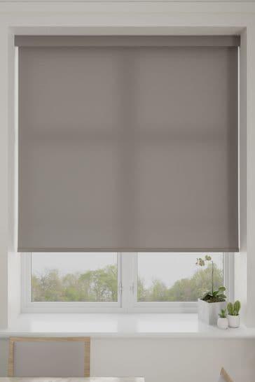 Asher Fog Grey Made To Measure Light Filtering Roller Blind