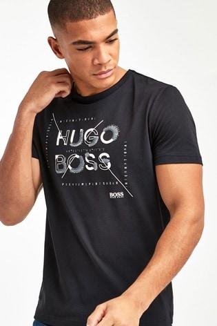 BOSS Black Tee 2 Logo Graphic T-Shirt