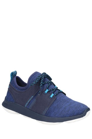 Hush Puppies Blue Geo BounceMax Lace-Up Trainers