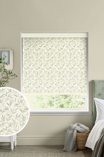 Laura Ashley Green Hedgerow Made To Measure Roller Blind