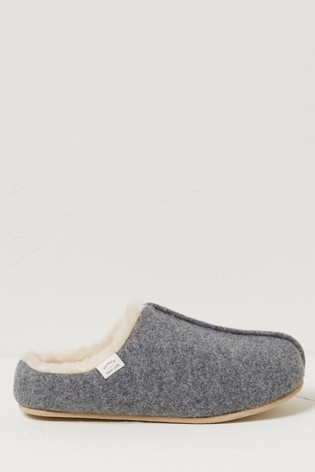 FatFace Grey Fifi Felted House Shoes