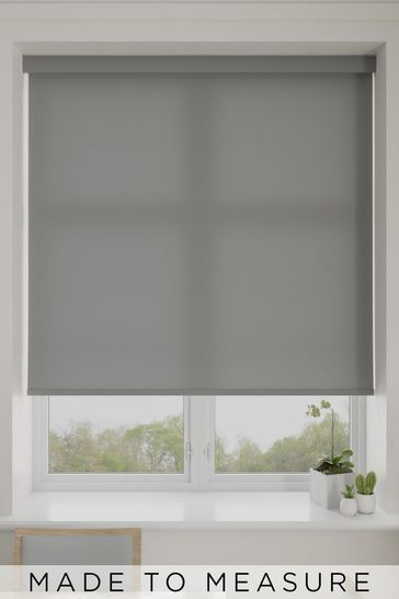 Asher Stone Grey Made To Measure Light Filtering Roller Blind