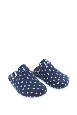 White Stuff White Poppy Footbed Slippers