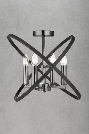 Searchlight Metal Eternity 4 Light Semi Flush Light Fitting