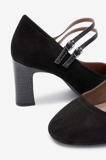 Black Extra Wide Fit Mary Jane Shoes