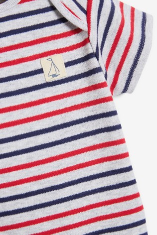 Multi Stripe 3 Pack Short Sleeve Bodysuits (0mths-3yrs)