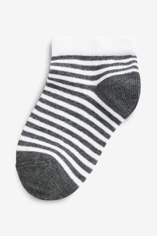 Mono 5 Pack Spot And Stripe Trainer Socks