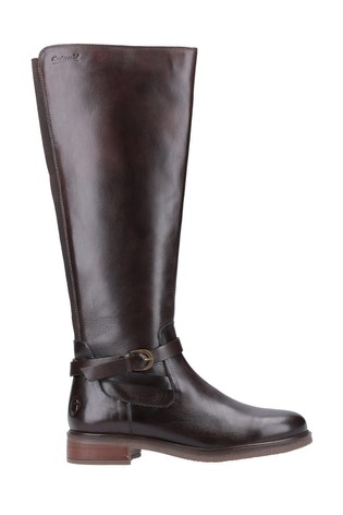 Cotswold Brown Leafield Knee High Boots