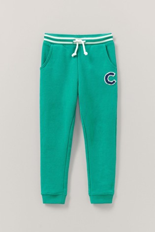 Crew Clothing Green Solid Crew Joggers