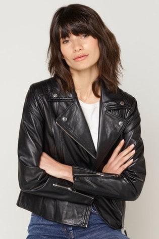 M&Co Black Leather Jacket