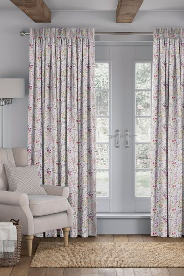 Ellis Pink Made To Measure Curtains