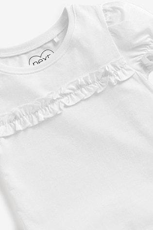 White 3 Pack Organic Cotton Short Sleeve T-Shirts (3mths-7yrs)