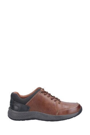 Cotswold Tan Rollright Lace-Up Casual Shoes