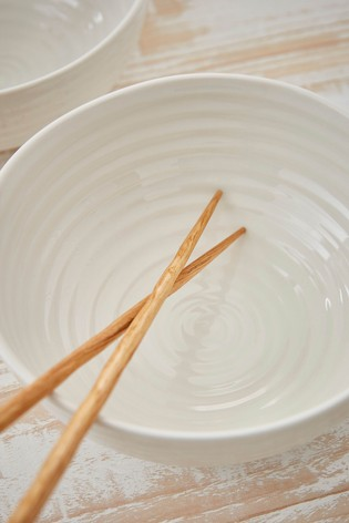Set of 4 Portmeirion Sophie Conran Noodle Bowls