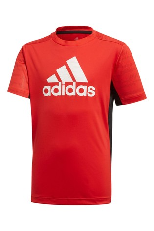 adidas Performance Red/Black T-Shirt And Short Set