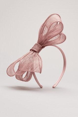 Phase Eight Pink Zalinda Bow Headband
