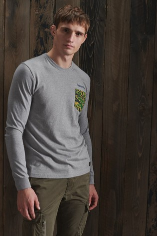 Superdry Classic Logo Canvas Long Sleeve Top