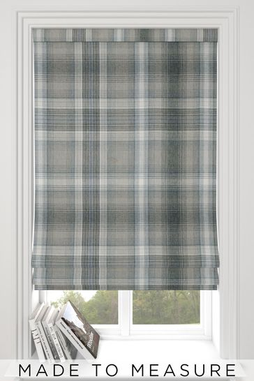 Cosy Check Grey Made To Measure Roman Blind