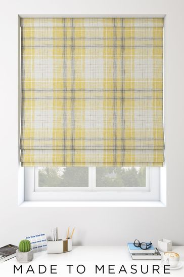 Astley Check Gold Made To Measure Roman Blind