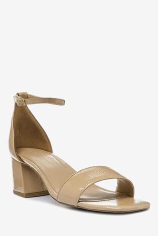 Nude Extra Wide Fit Forever Comfort® Simple Block Heel Sandals
