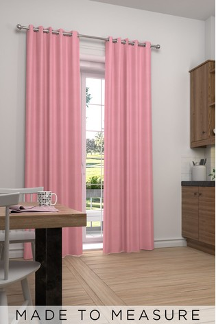 Cotton Rose Pink Made To Measure Curtains
