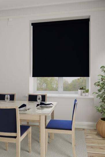 Asher Black Made To Measure Light Filtering Roller Blind