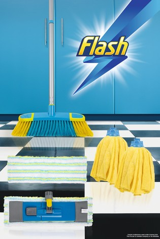 Flash Floor Clean Kit With Flat And Microfibre Mop by Wham