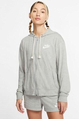Nike Gym Vintage Zip Through Hoodie