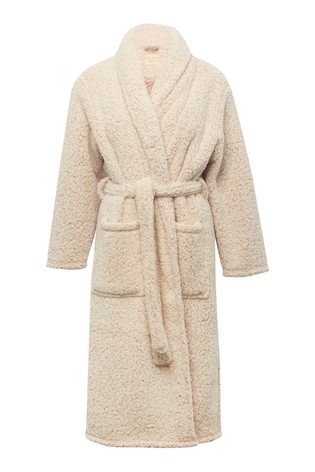 M&Co Pink Fleece Dressing Gown
