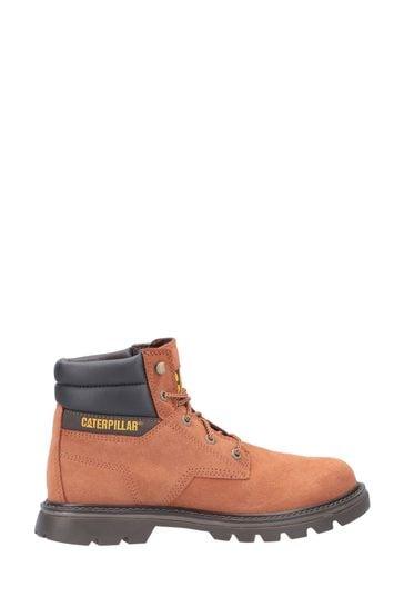 CAT® Lifestyle Orange Quadrate Lace-Up Boots