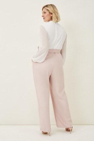 Phase Eight Pink Audrey Blouson Sleeve Jumpsuit