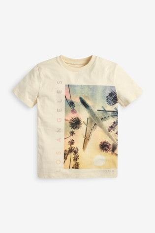 Stone Airplane Graphic T-Shirt (3-16yrs)