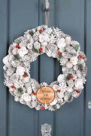 Personalised Morning Frost Wreath by Dibor