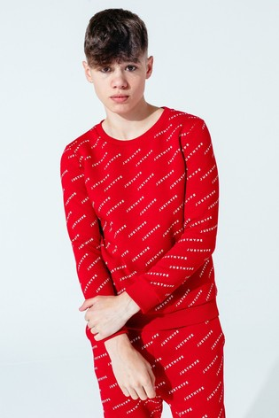 Hype. Red JH Repeat Kids Crew Neck Sweater