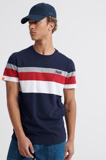 Superdry Orange Label Classic Wide Stripe T-Shirt