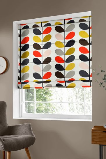Multi Stem Tomato Red Made To Measure Roman Blind by Orla Kiely