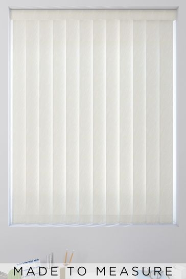 Magnolia Cream Wave Texture Made To Measure Vertical Blind